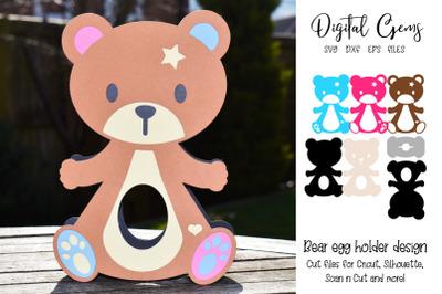 Bear egg holder design.
