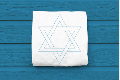 Linework Star of David | Embroidery