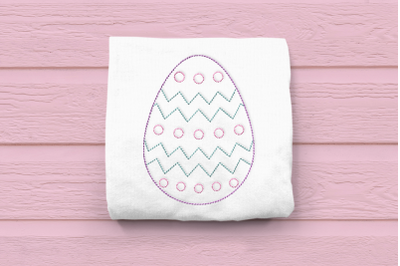 Linework Patterned Easter Egg | Embroidery