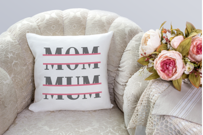 Mom and Mum Split | SVG | PNG | DXF | EPS