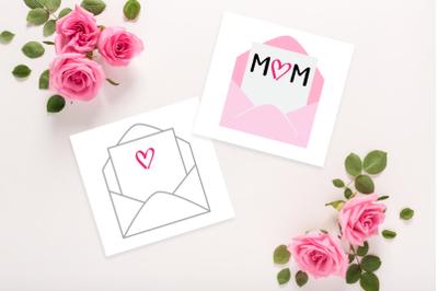 Mom-velope Mother's Day Envelope | SVG | PNG | DXF | EPS