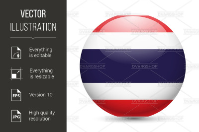 Round glossy icon of Thailand