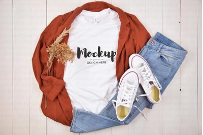 Casual White Shirt Mockup