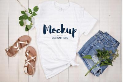 White Summer Shirt Mockup