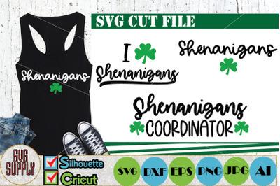 Shenanigans St. Patrick's Day SVG Cut file