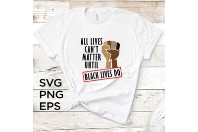 Black Lives Do SVG