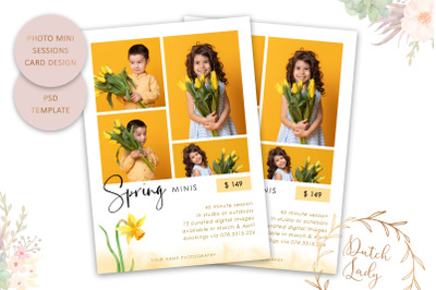 PSD Photo Session Card Template #75