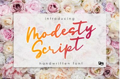 Modesty Script - Handwritten Font