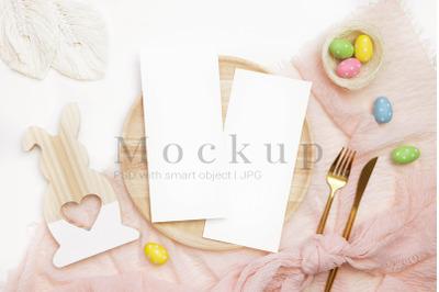 Invitation Mockup,4x9 Card Mockup,Invitation Card