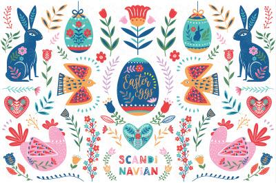 Easter Folk Art Collections Set