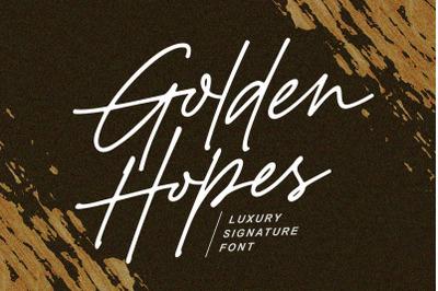 Golden Hopes - Luxury Signature Font