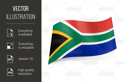 State flag of South Africa.