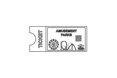 Amusement Parks Ticket outline icon
