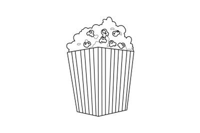 Amusement Parks Popcorn outline icon