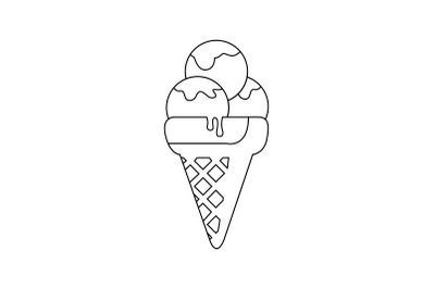 Amusement Parks Ice Cream outline icon