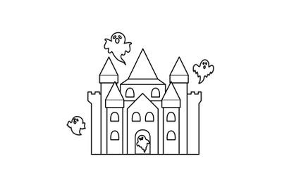 Amusement Parks Haunted House outline icon
