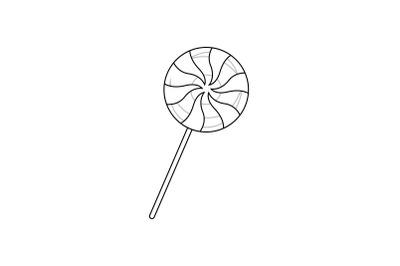 Amusement Parks Lollipops outline icon