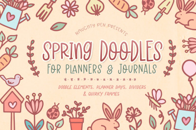 Spring Doodles For Planners And Journaling