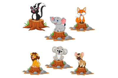 Cute Wild Animals Cartoon Bundle