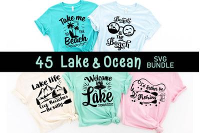 Lake & ocean Quotes SVG bundle, lake svg cut file, cut file, ocean svg