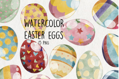Watercolor Easter Eggs | Set of 15 |
