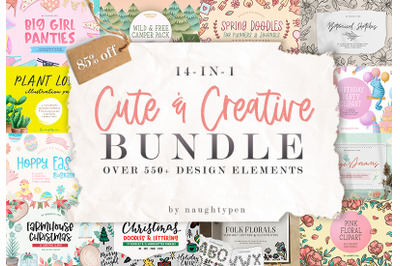 14-in-1 Cute And Creative Graphics Bundle