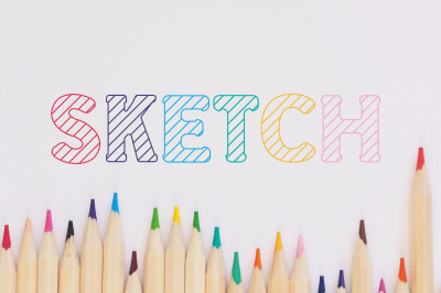 School Sketch Kids Font