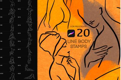 Line Figure Body Brush Procreate