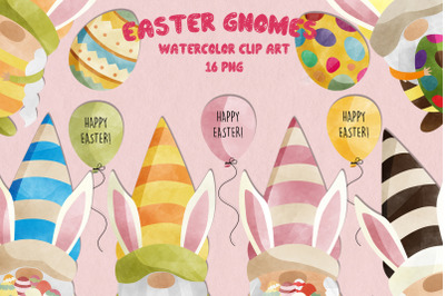 Watercolor Easter Gnomes | Set of 16 |