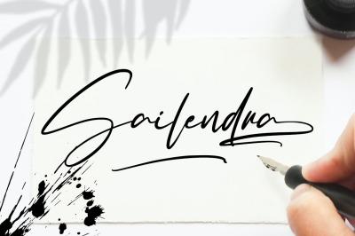 Sailendra - Stylish Signature Font