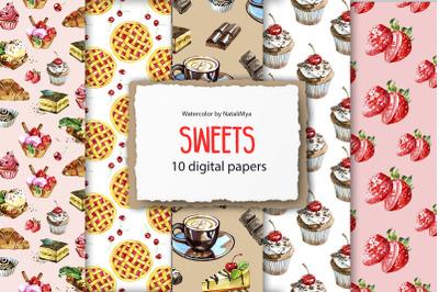 Sweet digital paper pack