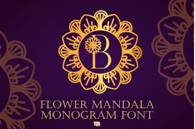 Flower Mandala Monogram Font