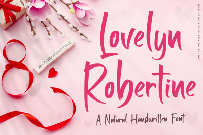 Lovelyn Robertine - Handwriting Font