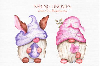 Spring Gnomes Watercolor