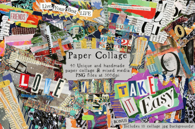 Paper Collage Png's and Backgrounds