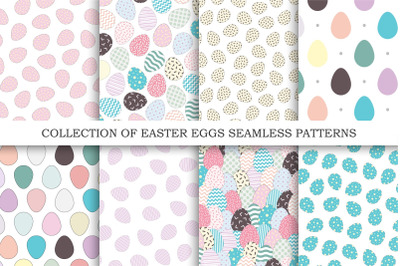 Colorful Easter seamless patterns