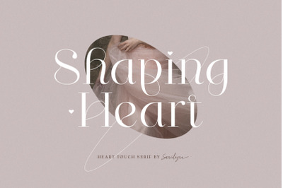 Shaping Heart - Lovely Serif