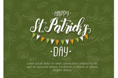 St Patrick's day card.