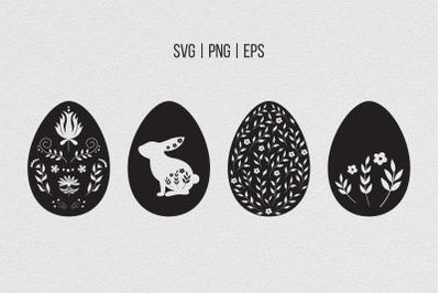 Easter eggs SVG, patterned egg SVG, floral Easter egg