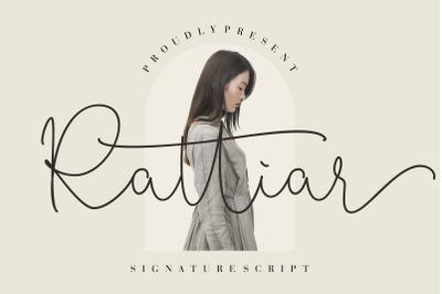 Rattiar Signature Script