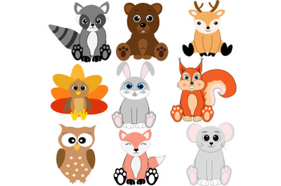 Forest animals bundle svg, woodland animal svg, animal svg, baby fox s
