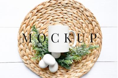 Farmhouse Easter Eggs Mug Mockup - Easter Mockup