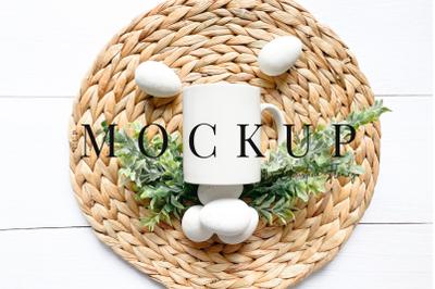 Minimal Easter Eggs Mug Mockup Farmhouse - Easter Mockup