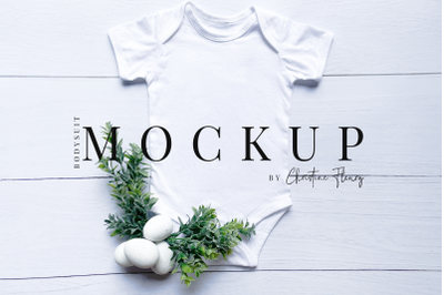 Minimal Easter Baby Bodysuit- Easter Mockup