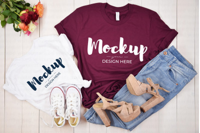 Mommy and Me Mothers Day Shirt Mockup