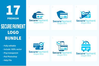 17 Secure Payment Logo Bundle