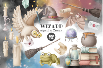 Wizard clipart collection
