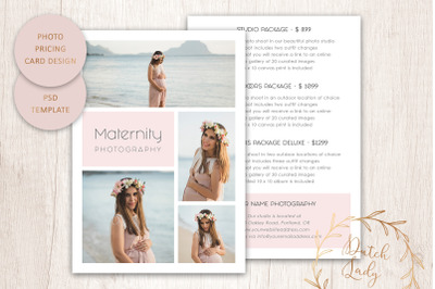 PSD Photo Price Card Template #24