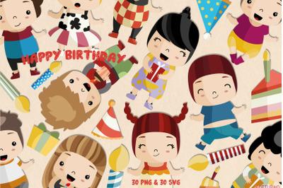 Birthday Clipart SVG | Set of 30 |