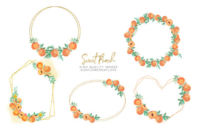 summer peaches Frame clipart,Peach fruit, Sweet as a peach pea